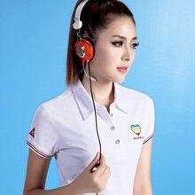 Summer Casual Womens Polo Shirts Cotton High Quality Short Sleeve Plus Size Ladies Poloshirt Breathable Fashion Polo Femme P013