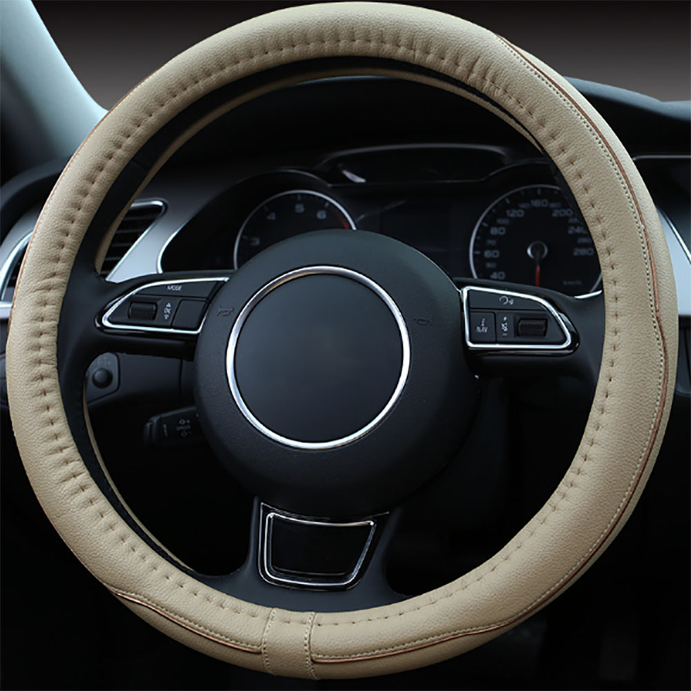 2018 protection micro fiber leather steering wheel cover perfect