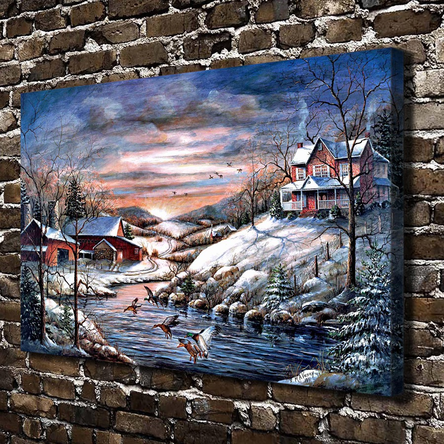 A0419 Mary Ann Vessey Winter Haven Landscape .HD Canvas Print Home decoration Art painting Living Room Bedroom Wall pictures