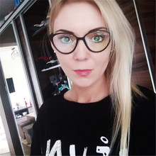 3bb59b8f56 Fashion Transparent Spectacle Woman Cat Eye Glasses Frame Women Men Clear  Lens Optical Reading Eyeglasses Vintage