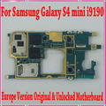 Original europa versión desbloqueado placa base placa base para samsung galaxy s4 mini i9190/i9195 con patatas fritas, buen trabajo freeship