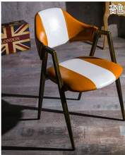 European style dining chair. Retro make old chair. Iron art cafe creative negotiation chair(China)