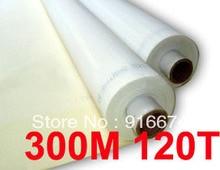 Discount 5 meters 120T 300M polyester silk screen printing mesh 120T 127CM width цена 2017