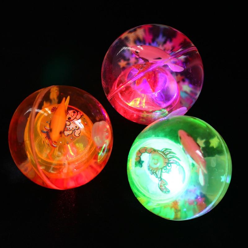 Glitter Crystal Bounce Ball Glitter Children's Toy Bounce Ball Glitter Toy Without String Novelty Gag Toys Luminous Toys