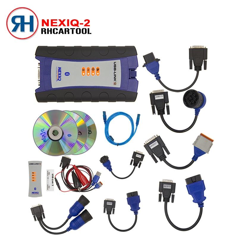 DHL Free Shipping NEXIQ-2 USB Link New Arrival Auto Heavy Duty Truck Nexiq 2 Bluetooth Diagnostic Tool