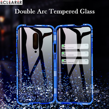 360 Full Protection Double Arc Tempered Glass Case For OnePlus 7 Pro Luxury Aluminum Metal Magnetic Case Cover OnePlus 7 Pro 5G