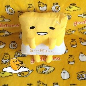 Image 3 - Kawaii ogrzewacz dłoni Gudetama leniwy jajko pluszowa poduszka koc obsadzone jajko Jun żółtko brat zabawka lalka śliczna miękka poduszka