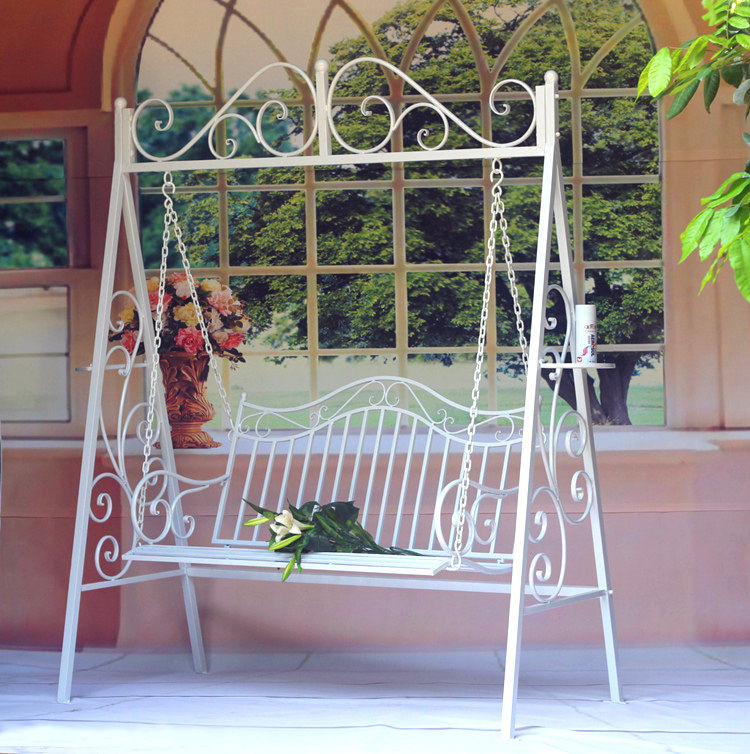 Continental Iron Creative Outdoor Wrought Iron Swing