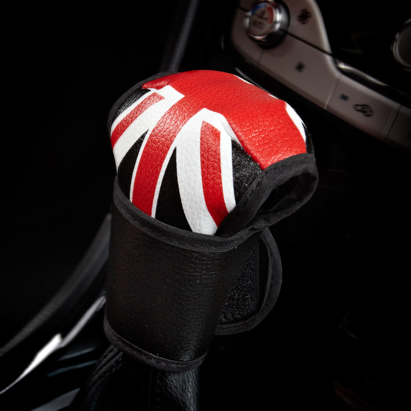 Union Jack Car Interior Leather Gear Shift Knob Collars Cover Case For Mini Cooper JCW F60 F56 F55 R55 R56 R60 Styling