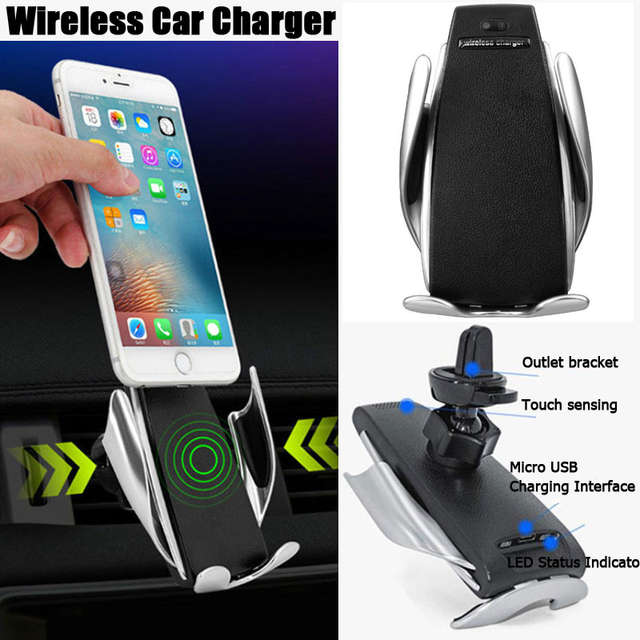 3c66f90474f045 Detail Feedback Questions about Smart Automatic Clamping Car Wireless  Charger For IPhone Xs Max 8 7 Plus XR Car Phone Holder Fast Charger Air  Vent Mount ...