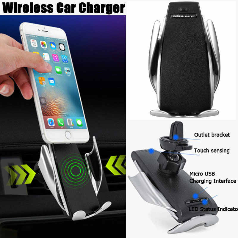 Wireless Automatic Sensor Car Phone Holder and Charger Top Hight Quality Wireless Car Charger Infrared Smart Sensor, Smart Sensor Wireless Car Charger Mount.