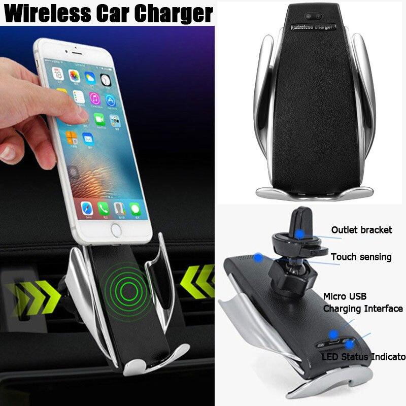 Smart Automatische Spann Auto Drahtlose Ladegerät Für IPhone Xs Max 8 7 Plus XR Auto Telefon Halter Schnelle Ladegerät Luft vent Mount Halterung