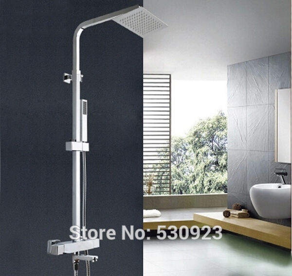 Newly 8 Rain Shower Set Faucet Chrome Finished Tub Mixer Faucet With ABS Hand Shower Sprayer