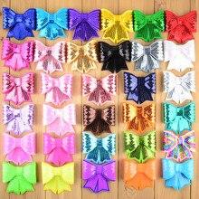 """60 pçs/lote 3 """"grandes arcos de lantejoulas neon arco nó applique bordado boutique fita do cabelo arco meninas acessórios para o cabelo hdj13"""
