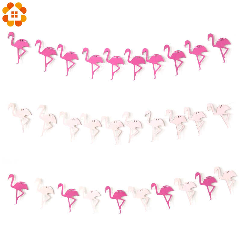 1Set DIY Wood Rose&Pink Flamingo Woodchips Banner Wall Hanging For Kids Bedroom Wall Decor Bed Background Home Party Decoration