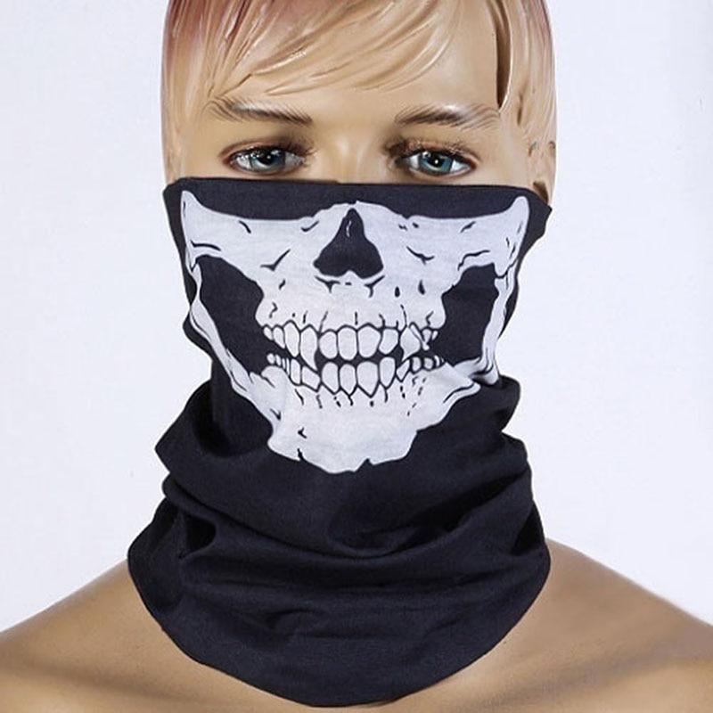 Hot Sale Balaclava Cool Skull Bandana Dustproof Bike Helmet Neck Face Protection Mask Outdoor Sportswear Headband Security Parts