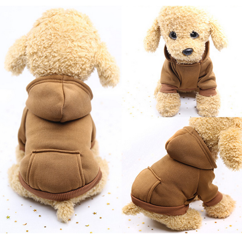 Warm Dog Clothes Pet Dog Coat Jacket for Small Dogs Chihuahua Clothes Solid Hoodies Autumn Puppy Outfits Dogs Clothing YH 461614 in Dog Coats Jackets from Home Garden