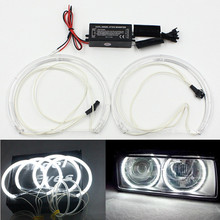 CCFL Angel Eyes for BMW E46 projector E36 E38 E39 4*131mm rings CCFL Halo Rings for BMW Car LED headlight DRL CCFL angel eyes