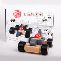 wooden car blocks
