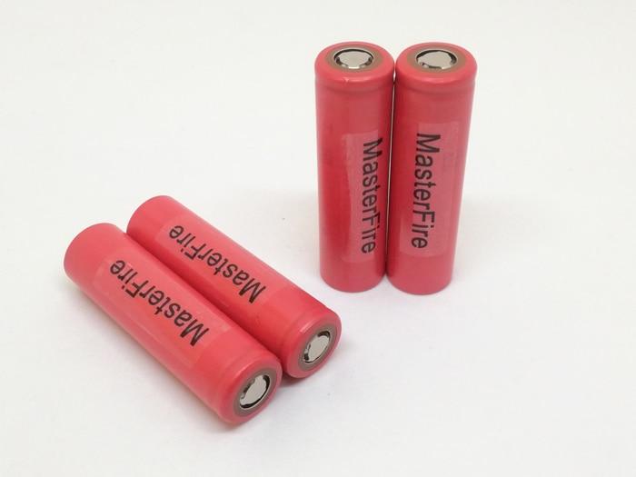 En gros 100 PCS/LOT MasterFire véritable Sanyo 18650 NCR18650BF haute capacité 3400mAh batterie au Lithium Batteries rechargeables