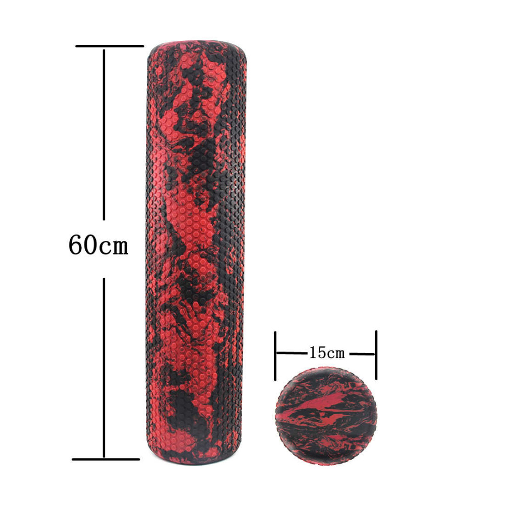 Pilates Foam Roller 45/60cm Trigger Point EVA Massage Roller Muscle Tissue Fitness Gym Yoga Pilates Sports Roller Yoga Roller