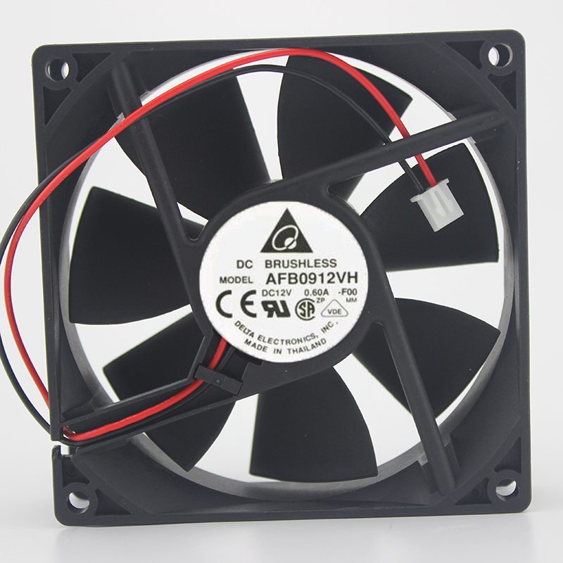 Original For Delta AFB0912VH 9225 12V 0.60A 2-wire Axial Cooling Fan