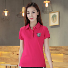 Summer Fashion Army Green Embroidered Polo Shirts Women Casual Plus Size Tops Cotton Slim Elasticity Tee Shirt Polo Shirt 6XL(China)