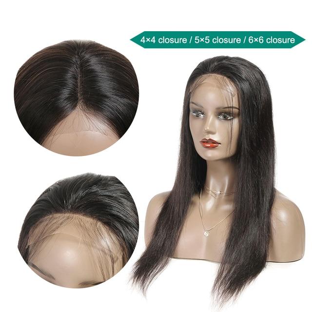 Ali Grace prosto zamknięcie koronki peruki 6x6 zamknięcie peruka ludzki włos peruki z dziecięcymi włosami 4x4 brazylijski koronki przodu peruki z ludzkich włosów