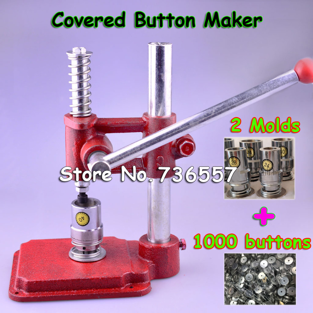 Здесь продается  Fabric Covered Button Press Machine Handmade Fabric Self Cover Button Maker Machines with 2 Molds 500 pcs buttons  wholesale  Офисные и Школьные принадлежности