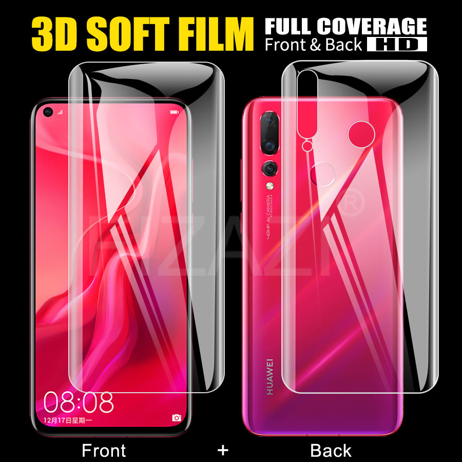 Front+Back Screen Protector TPU Film For Huawei Nova 4 3 3i P Smart Plus 2019 Honor Magic 2 Note 10 Mate 10 Pro Hydrogel Film image