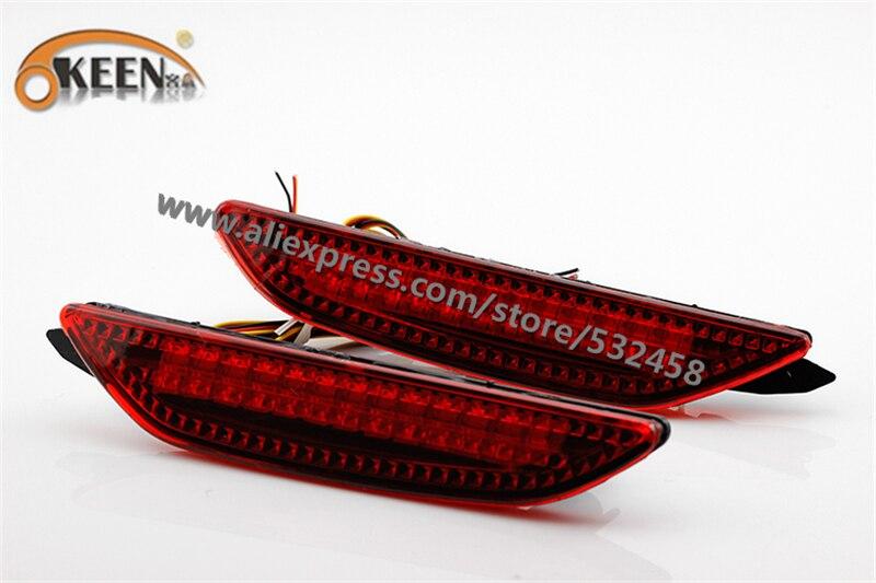 OKEEN Brand Automobiles LED Red Bumper Reflector Lights Rear Lihgts Tail Light Parking Warning Lights For Kia K2 sedan ...