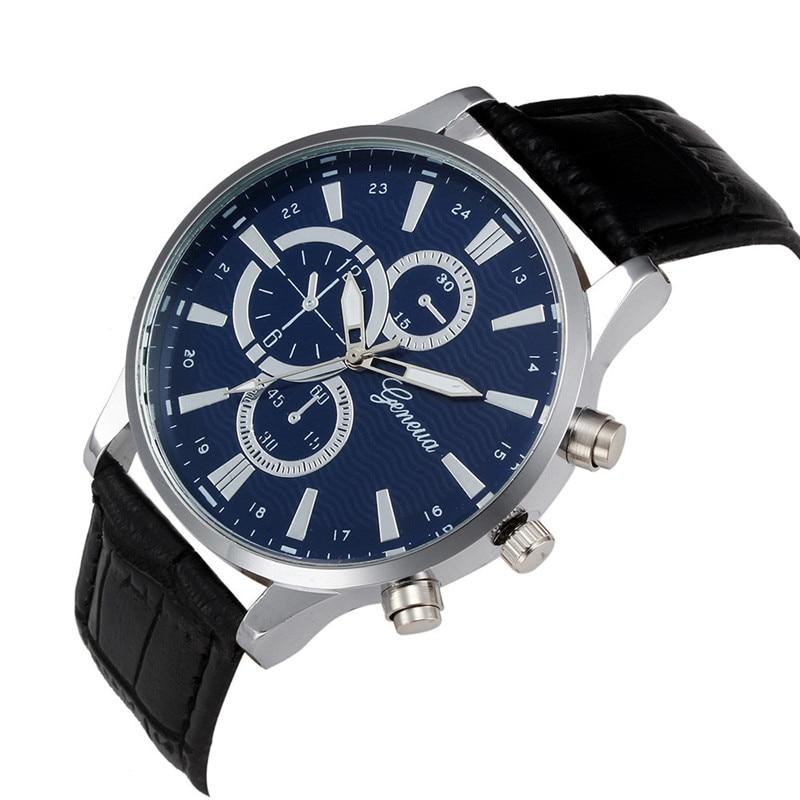 2017 Fashion Luxury Men Watch Retro Design Leather Band Analog Alloy Quartz Wrist Watch  ...