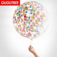 Decorate 36inch Rainbow paper scraps latex balloons wedding event christmas halloween festival birthday party HY-341