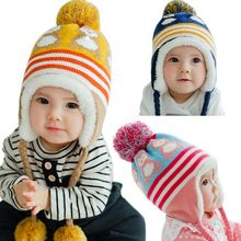 New Baby Winter Hats Hedging Caps Girl Boy Kid Winter Warm Korean Version Cute Baby Hat Penguin Newborn Colorful(China)