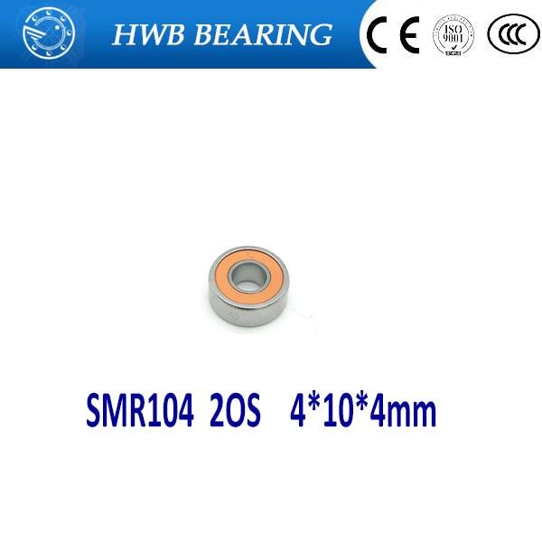 купить Free Shipping 2pcs 4x10x4 Hybrid Ceramic Stainless Lube Dry Fishing Reel Bearing SMR104C 2OS A7 LD дешево