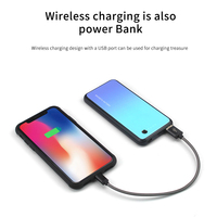 KISSCASE Luxury Tempered Glass Case For Samsung Galaxy Note 9 8 S8 S9 S10 Plus Wireless Magnetic Power Bank Battery Charger Case