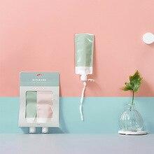 2 PCS Travel Portable Mini Dispenser Facial  Cleanser Liquid Shower Shampoo Folding Storage Bag PVC Outdoor Use