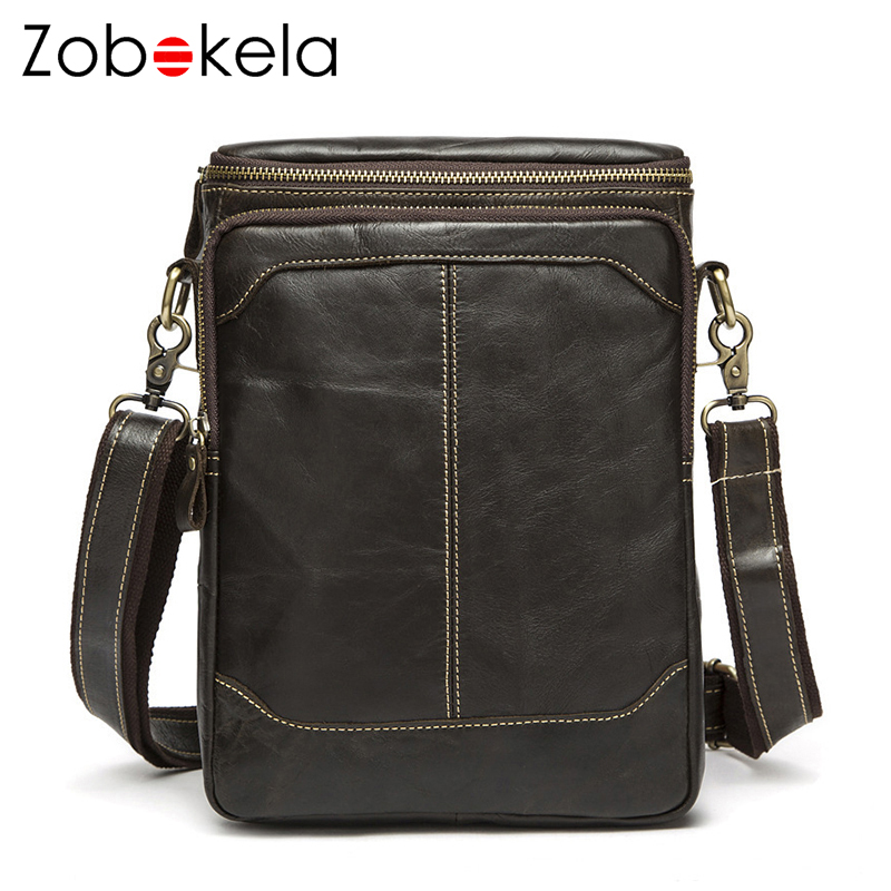 Zobokela Genuine leather Men messenger bags male luxury handbags designer  Business Travel bag men Shoulder Crossbody 691cdeadc857b