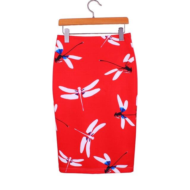 Бесплатная доставка M-XXL женщин красный карандаш юбки 2016 Западные модные девушки тонкий faldas vogue дамы новый повседневная топы оптовая