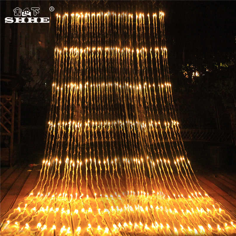 640 led waterflow curtain fairy string