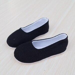 "Image 2 - סיני עתיקות תלבושות נעלי שחור עבור 1/4 17 ""44 m גבוה 1/3 זכר BJD בובת MSD DK DZ AOD DD SD17 70 ס""מ בובת משלוח חינם"