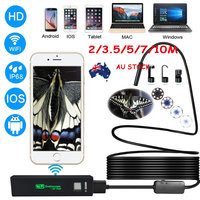 8mm Lens Android IOS Wifi Endoscope With 2m 3 5m 5m 7m 10m Cable IP67 Waterproof