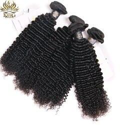 King афро кудрявые вьющиеся волосы 3 шт. натуральный цвет 10-26 дюймовые бразильские волосы Weave Связки Remy человеческие волосы расширения