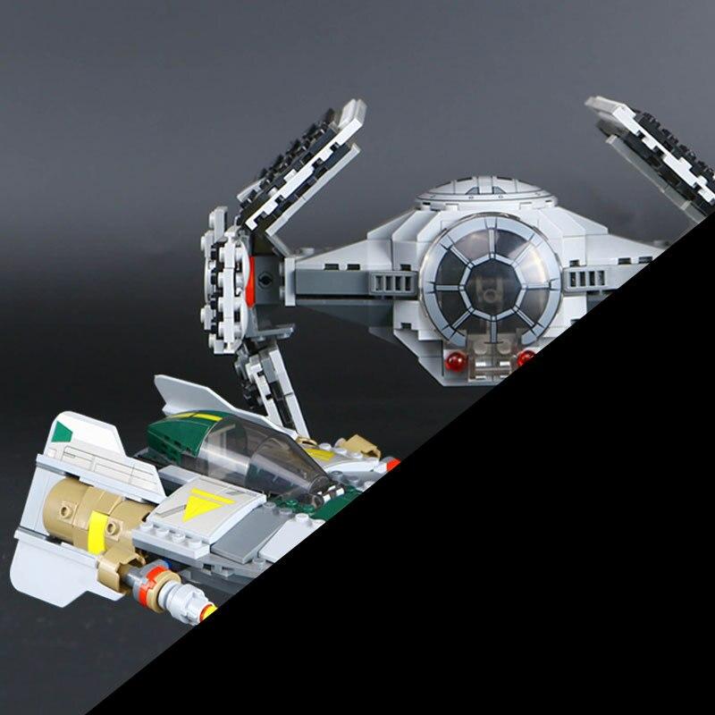 722 шт. Лепин 05030 звезда серии войны Дарт Вейдер набор Tie advanced VS игрушки Wing Star Fighter здания Конструкторы игрушка подарок несовместим 75150