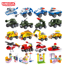MEOA Mini Military Building Blocks Duplo Kompatibel Legoinglys City Police Brick Lepin Technic Kid Leksaker för barn