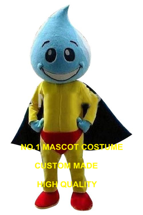 Mascotte de gouttelette d'eau colorée haute qualité matériel EVA grande tête joli Costume d'animal personnage Costume mascotte comme mode 2461