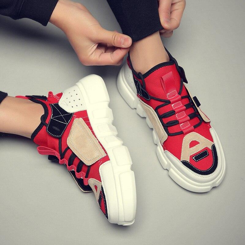 Streetwear homme Hip Hop chaussures De danse baskets Tenis Masculino à lacets chaussures à fond épais Kanye West baskets Zapatos De Hombre