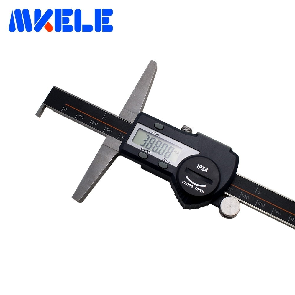 0-150mm Single Hook Depth Digital Display Vernier Caliper Electronic Caliper Stainless Steel High-Accuracy IP54 Waterproof 150mm 6inch electronic vernier caliper ip54 waterproof stainless steel digital caliper resolution 0 01mm measuring tool with box