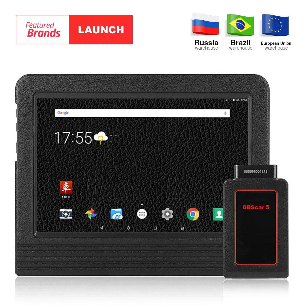 Запуск X431 V Plus 10,1 дюймовый Wi-Fi/Bluetooth Авто инструменту диагностики с 2 год бесплатного обновления X431 V + автомобиль сканер же как X431 Pro3