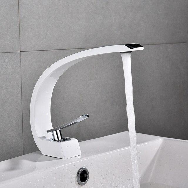Basin Faucets Modern Bathroom Sink Mixer Tap Brass Washbasin Faucet Single Handle Single Hole Elegant Crane For Bathroom E Basin Faucets Aliexpress